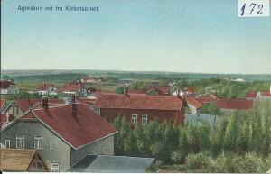 Agerskov set fra kirketårnet 1915